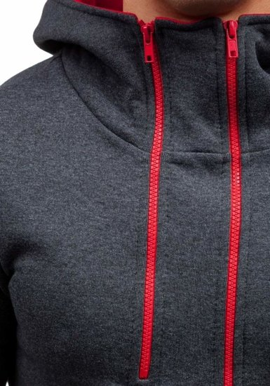 Bluza męska z kapturem antracytowa Bolf 13S