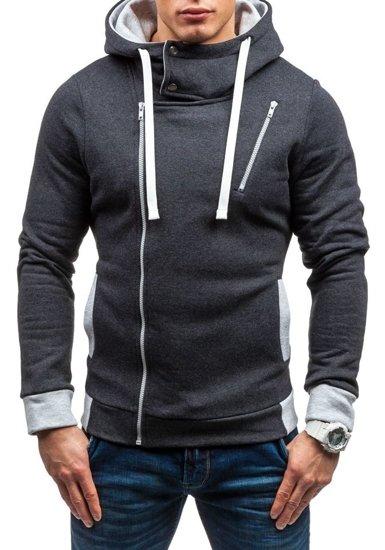 Bluza męska z kapturem antracytowa Bolf 48S