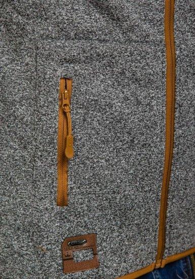 Bluza męska z kapturem antracytowa Denley 3556