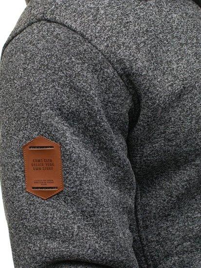 Bluza męska z kapturem antracytowa Denley 3563