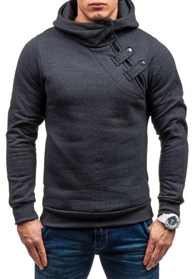 Bluza męska z kapturem antracytowa Denley MARIO