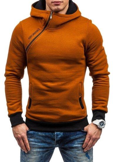 Bluza męska z kapturem camelowa Denley BEN