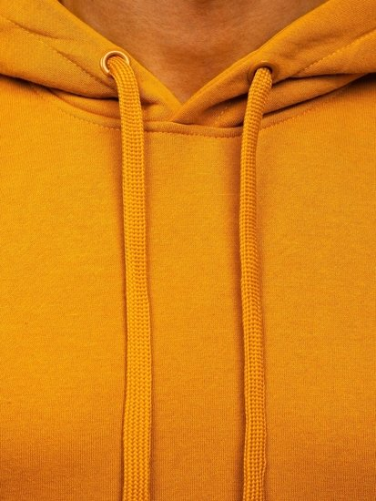 Bluza męska z kapturem camelowa kangurka Denley 2009