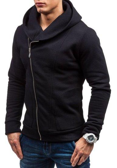 Bluza męska z kapturem czarna Bolf 05S-ZM