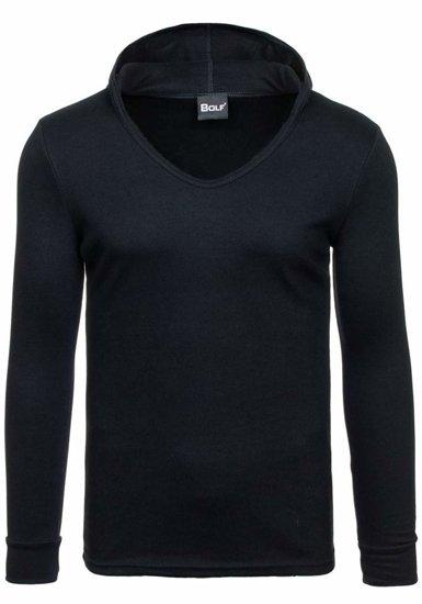 Bluza męska z kapturem czarna Bolf 11S