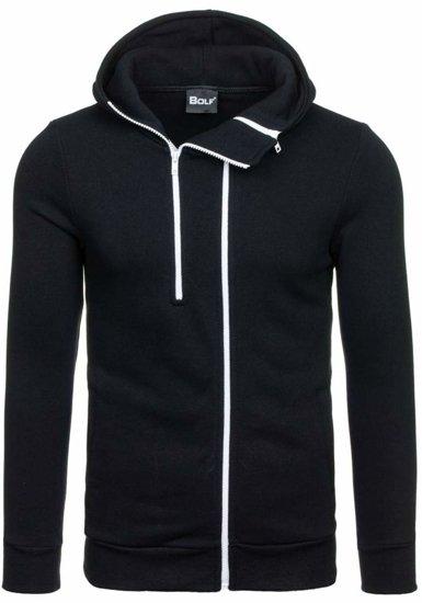 Bluza męska z kapturem czarna Bolf 13S