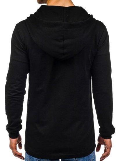 Bluza męska z kapturem czarna Denley 0353