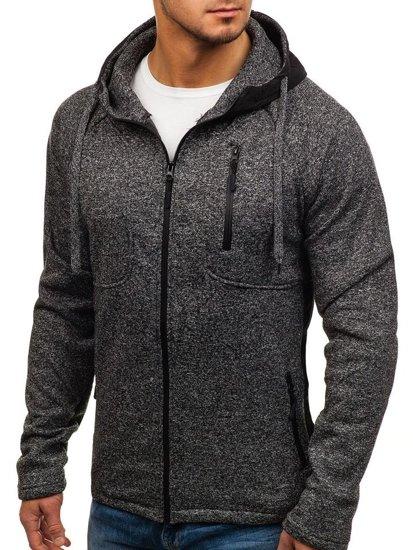 Bluza męska z kapturem czarna Denley 2920