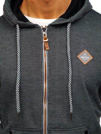 Bluza męska z kapturem czarna Denley 3610