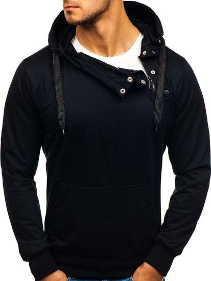 Bluza męska z kapturem czarna Denley 7087
