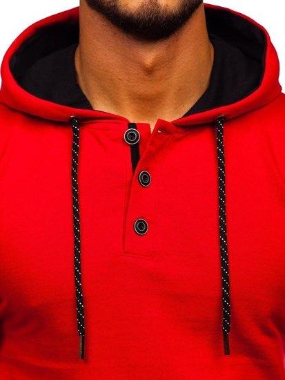 Bluza męska z kapturem czerwona Bolf 145365