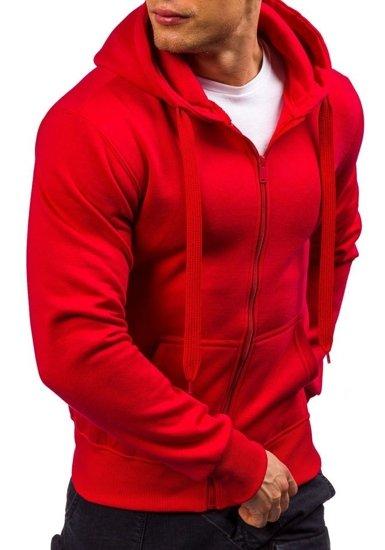 Bluza męska z kapturem czerwona Denley AK50-4