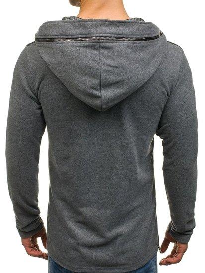 Bluza męska z kapturem grafitowa Denley NRT525