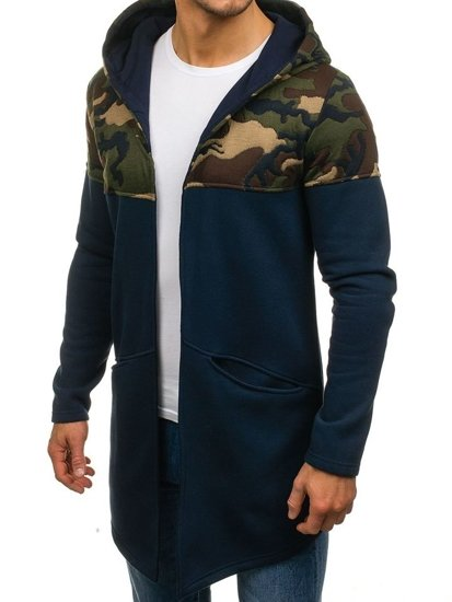 Bluza męska z kapturem granatowa Bolf 9117