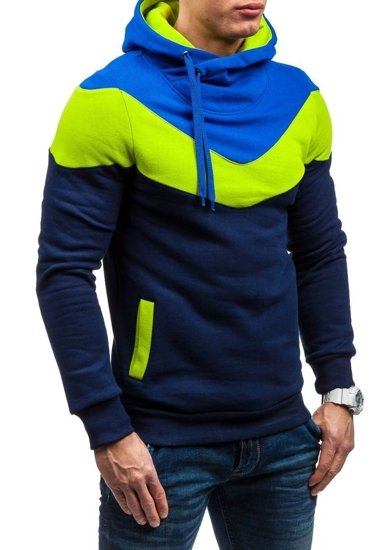 Bluza męska z kapturem granatowa Denley RALPH
