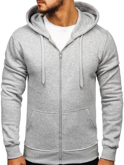 Bluza męska z kapturem jasnoszara Denley 2008