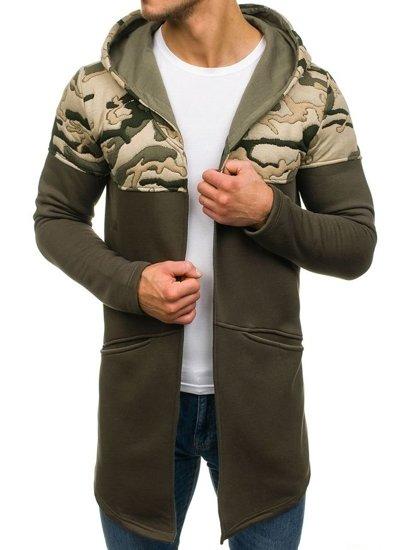 Bluza męska z kapturem khaki Bolf 9117