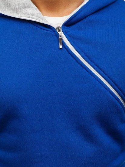 Bluza męska z kapturem kobaltowa Bolf 46S