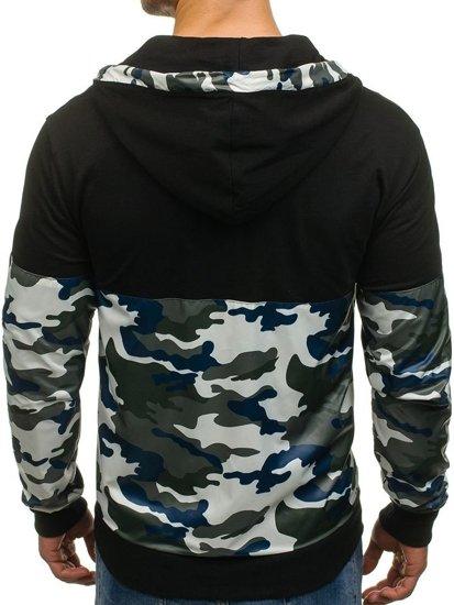 Bluza męska z kapturem moro-zielona Denley 0468