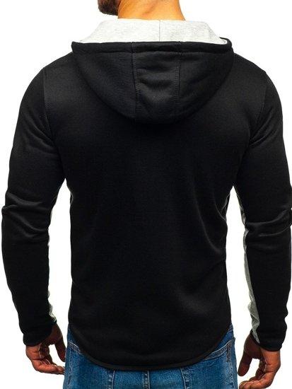 Bluza męska z kapturem rozpinana czarna Denley DD82
