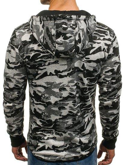 Bluza męska z kapturem rozpinana moro-szara Denley DD99