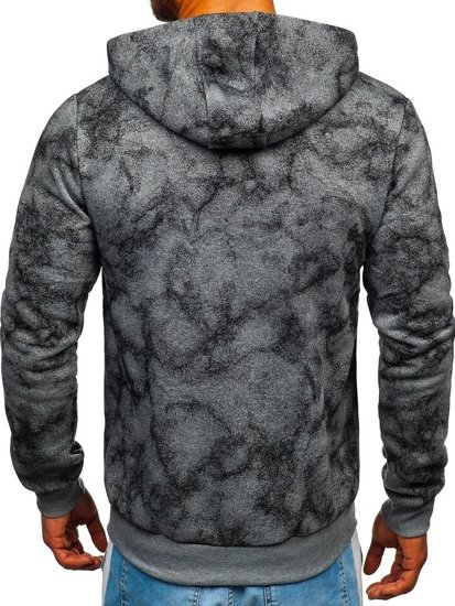 Bluza męska z kapturem rozpinana szara Denley W1566