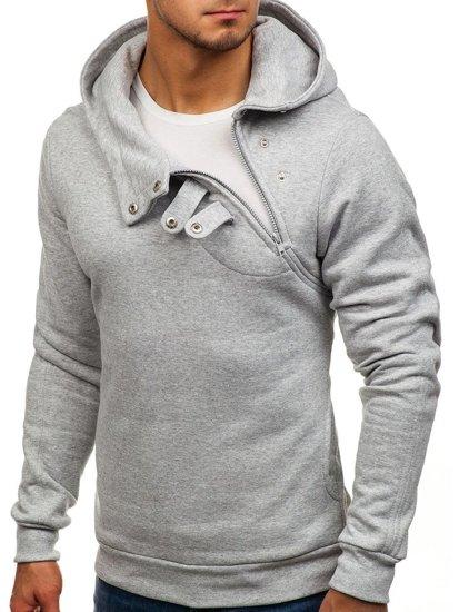 Bluza męska z kapturem szara Bolf 06S