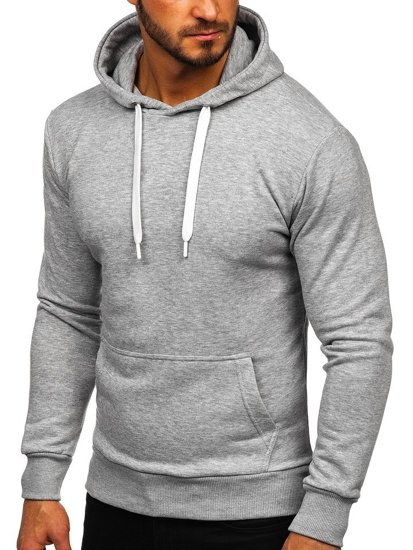 Bluza męska z kapturem szara Bolf 1004