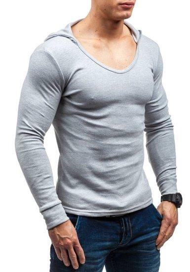 Bluza męska z kapturem szara Bolf 11S
