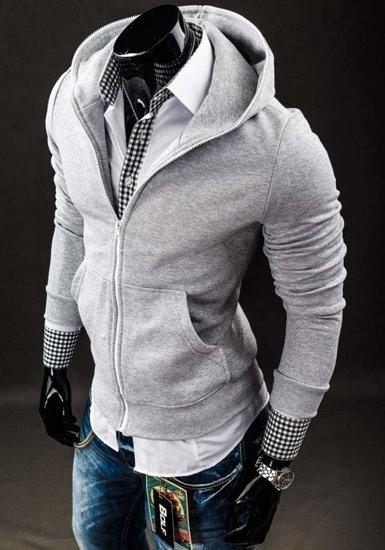 Bluza męska z kapturem szara Bolf 14