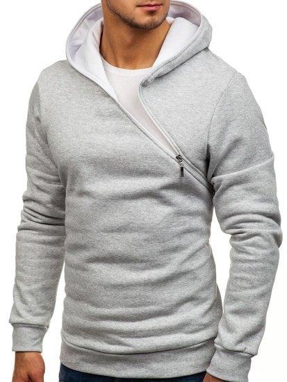 Bluza męska z kapturem szara Bolf 46S