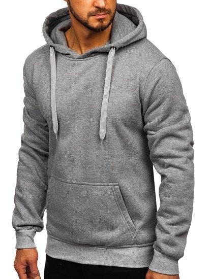 Bluza męska z kapturem szara Denley 2009