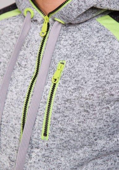 Bluza męska z kapturem szara Denley 2165