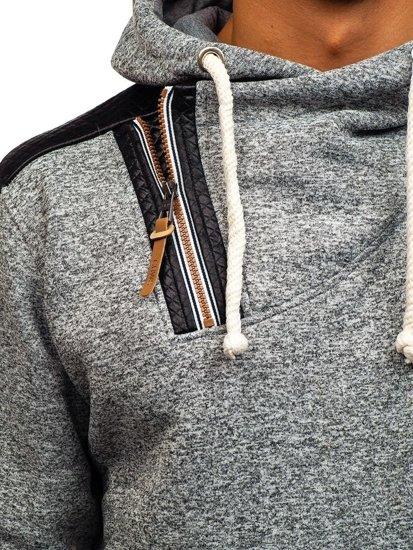 Bluza męska z kapturem szara Denley 3568