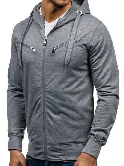 Bluza męska z kapturem szara Denley 7080