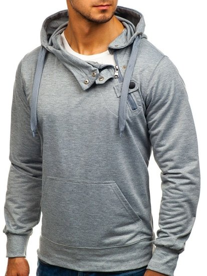 Bluza męska z kapturem szara Denley 7087