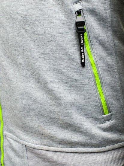 Bluza męska z kapturem szaro-czarna Denley HL14