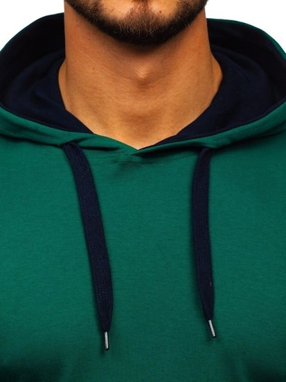Bluza męska z kapturem zielona Bolf 145380