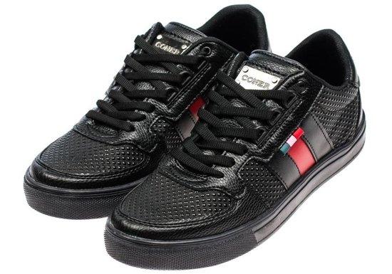 Buty męskie czarne Denley 3027