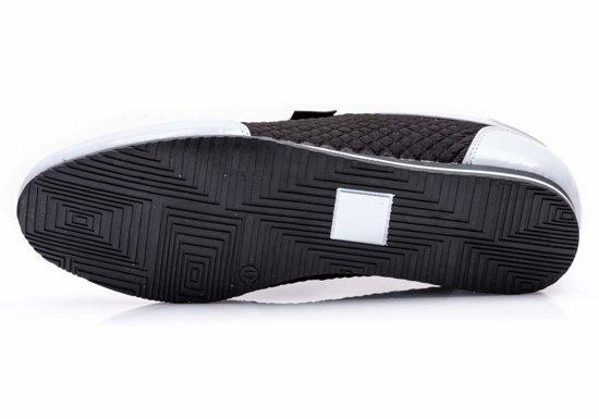 Buty męskie czarno-białe Denley 555