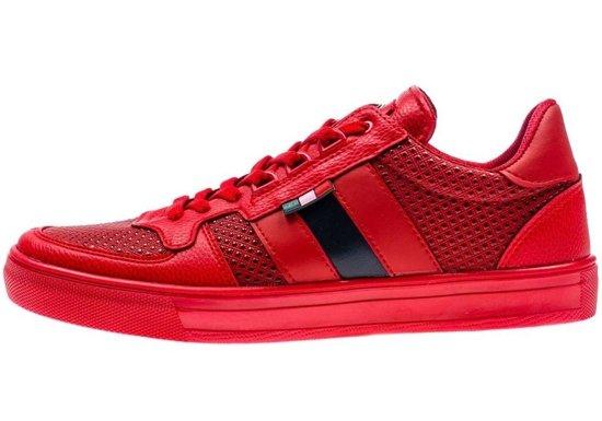 Buty męskie czerwone Denley 3027