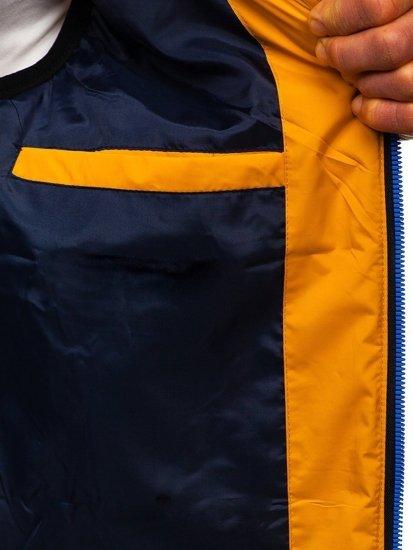 Camelowa męska kamizelka z kapturem Denley 6102