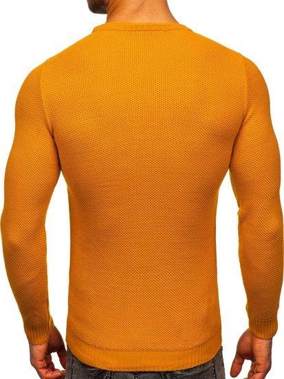 Camelowy sweter męski Denley 4629