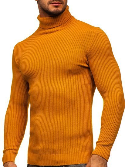 Camelowy sweter męski golf Denley 4607