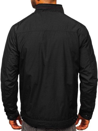 Czarna kurtka męska przejściowa elegancka Denley 6362