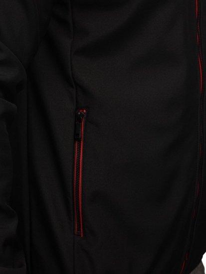 Czarna kurtka męska przejściowa softshell Denley KS2193