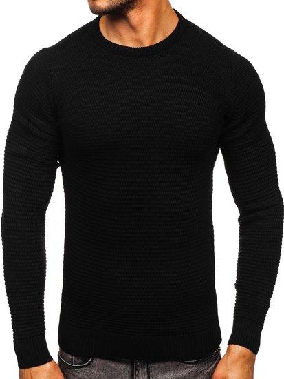 Czarny sweter męski Denley 4604
