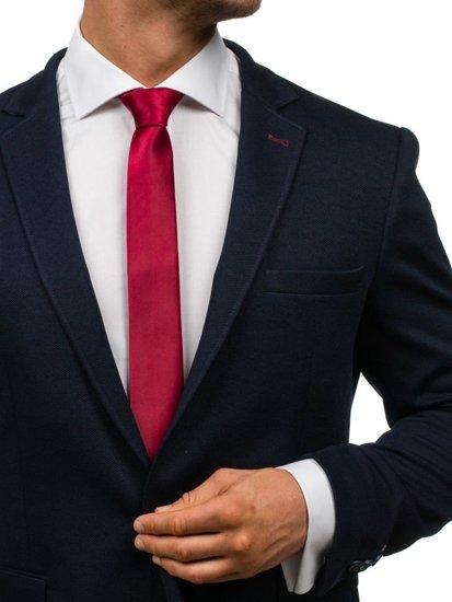 Elegancki krawat męski bordowy Denley K001