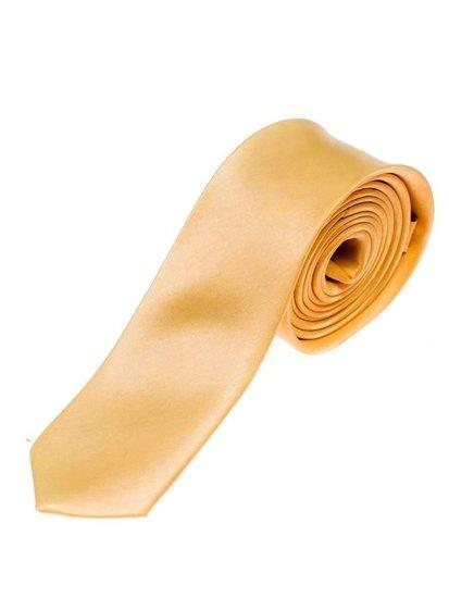 Elegancki krawat męski pomarańczowy Denley K001