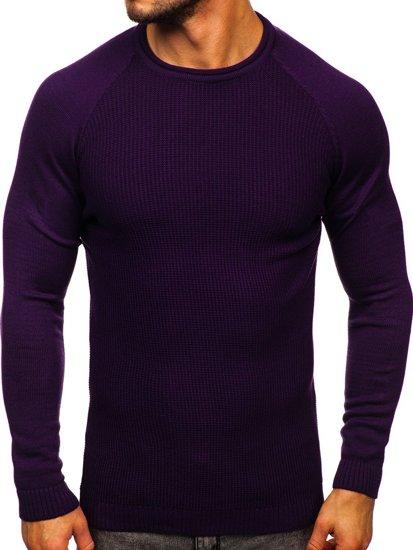 Fioletowy sweter męski Denley 1009